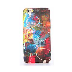Недорогие Кейсы для iPhone 6-Кейс для Назначение Apple iPhone 7 Plus iPhone 7 Сияние в темноте С узором Рельефный Кейс на заднюю панель другое Мягкий ТПУ для iPhone 7