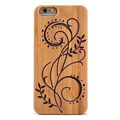 Для Защита от удара Рельефный Кейс для Задняя крышка Кейс для Сияние и блеск Цветы Твердый Бамбук для AppleiPhone 6s Plus iPhone 6 Plus