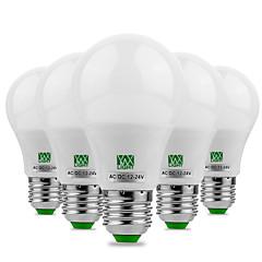 preiswerte LED-Birnen-YWXLIGHT® 5 Stück 5W 400-500lm E26 / E27 LED Kugelbirnen 10 LED-Perlen SMD 5730 Dekorativ Warmes Weiß Kühles Weiß 12V 12-24V