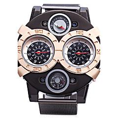 お買い得  大特価腕時計-JUBAOLI 男性用 クォーツ スポーツウォッチ 大きめ文字盤 合金 バンド チャーム ブラック
