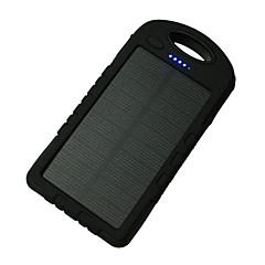 economico -banca di potere della batteria esterna 5V 1.0A #A Caricabatteria Torcia Multiuscita Ricarica ad energia solare LED