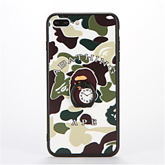 Недорогие Кейсы для iPhone 7-Кейс для Назначение Apple iPhone 7 Plus iPhone 7 Кольца-держатели С узором Рельефный Кейс на заднюю панель Камуфляж Твердый ПК для iPhone
