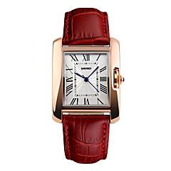 preiswerte Damenuhren-Damen Armbanduhr Japanisch Wasserdicht Leder Band Elegant / Modisch Schwarz / Rot / Braun