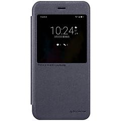 halpa Huawei kotelot / kuoret-Etui Käyttötarkoitus Huawei Ikkunalla AutomAutomaattinen auki / kiinni Flip Himmeä Suojakuori Yhtenäinen väri Kova PU-nahka varten Honor