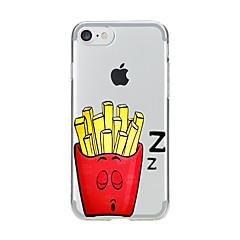 Недорогие Кейсы для iPhone-Для Прозрачный С узором Кейс для Задняя крышка Кейс для Мультяшная тематика Мягкий TPU для AppleiPhone 7 Plus iPhone 7 iPhone 6s Plus