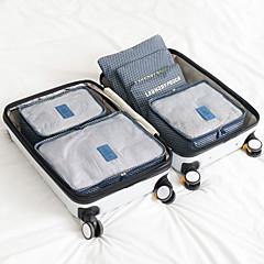 abordables Bolsas de Viaje-6 juegos Organizador para viaje Portátil / Impermeable / Almacenamiento para Viaje Sujetador / Ropa Nailon Viaje