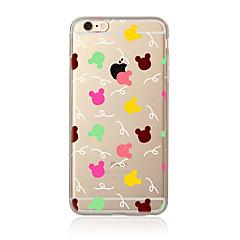 Недорогие Кейсы для iPhone 7 Plus-Для Прозрачный С узором Кейс для Задняя крышка Кейс для Плитка Мягкий TPU для AppleiPhone 7 Plus iPhone 7 iPhone 6s Plus iPhone 6 Plus
