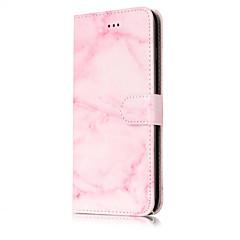 Недорогие Кейсы для iPhone 5-Для Кошелек Бумажник для карт со стендом Флип С узором Кейс для Чехол Кейс для Мрамор Твердый Искусственная кожа для AppleiPhone 7 Plus
