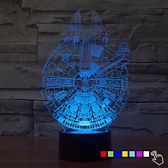 cheap LED Novelty Lights-1Pcs   7Color Change 3D Night Light Led Lamp Millennium Falcon Led Lighting Home Decor Table Lamp Nightlight For Kid