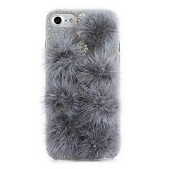 Voor Strass DHZ hoesje Achterkantje hoesje Effen kleur Hard Textiel voor Apple iPhone 7 Plus iPhone 7 iPhone 6s Plus/6 Plus iPhone 6s/6