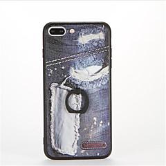 olcso iPhone 5S / SE tokok-Mert Tartó gyűrű Dombornyomott Minta Case Hátlap Case Punk Kemény PC mert AppleiPhone 7 Plus iPhone 7 iPhone 6s Plus iPhone 6 Plus iPhone