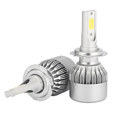 preiswerte HID-Halogenlampen-2pcs H7 Auto Leuchtbirnen 36W/pcs*2 W COB 3600 lm LED Scheinwerfer Für