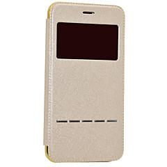 voordelige iPhone 5S/SE-hoesjes-hoesje Voor Apple iPhone 8 iPhone 8 Plus met venster Automatisch aan / uit Beplating Flip Volledig hoesje Glitterglans Hard PU-nahka voor