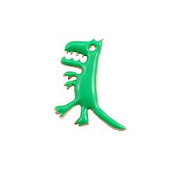 Недорогие Женские украшения-Жен. Броши - Крест, Динозавр, Дракон Мода, Симпатичные Стиль Брошь Зеленый Назначение Свадьба / Для вечеринок / Особые случаи