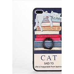 billige iPhone 5-etuier-Etui Til Apple iPhone 7 Plus iPhone 7 Ringholder Mønster Præget Bagcover Kat Hårdt PC for iPhone 7 Plus iPhone 7 iPhone 6s Plus iPhone 6s
