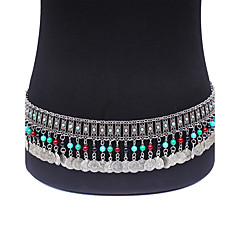 abordables Joyería Corporal-Mujer Cinturones metálicos Legierung Vintage Bohemio Moda Joyería Corporal Para Ocasión especial Casual Joyería de disfraz