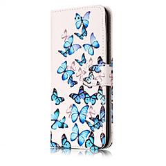 Недорогие Кейсы для iPhone X-Кейс для Назначение Apple iPhone X / iPhone 8 Кошелек / Бумажник для карт / со стендом Чехол Цветы Твердый Кожа PU для iPhone X / iPhone 8 Pluss / iPhone 8