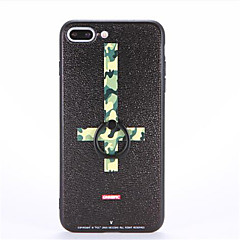 billige iPhone 6 Plus Plus-etuier-Etui Til Apple iPhone 7 Plus iPhone 7 Ringholder Mønster Præget Bagcover Camouflage Hårdt PC for iPhone 7 Plus iPhone 7 iPhone 6s Plus