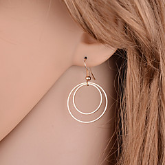 Women's Drop Earrings Jewelry Basic Simple Style Double-layer Alloy Round Jewelry For Party Daily Casual