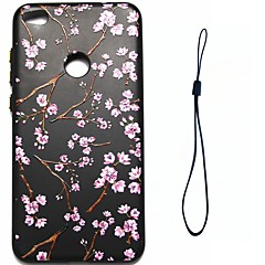 cheap Huawei P Series Cases / Covers-For Huawei P8 Lite (2017) P10 Case Cover Flower Pattern Fuel Injection Relief Plating Button Thicker TPU Material Phone Case P10 Lite P10 Plus