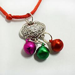 Mode huisdier lange levensduur slot hanger ketting kleine honden katten bell kraag kleding decoraties kerst accessoires