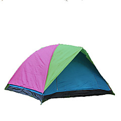 GAZELLE OUTDOORS 3-4 사람 텐트 더블 베이스 캠핑 텐트 원 룸 접이식 텐트 수분 방지 방수 방풍 자외선 방지 폴더 통기성 용 하이킹 캠핑 야외 유리 섬유 옥스포드 CM