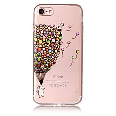 Недорогие Кейсы для iPhone 6-Кейс для Назначение Apple iPhone 7 Plus iPhone 7 IMD Прозрачный Кейс на заднюю панель Воздушные шары Мягкий ТПУ для iPhone 7 Plus iPhone