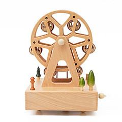 olcso -Zenedoboz Játékok Cuki Négyzet Körhinta Óriáskerék Merry Go Round Fa Darabok Uniszex Ajándék