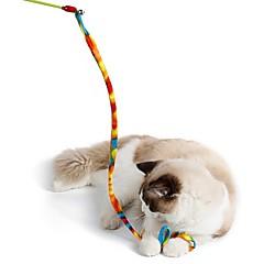Kattenspeeltje Huisdierspeeltjes Interactief Speelhengels Touw Vouwbaar Plakken Kat Kunststof Stof