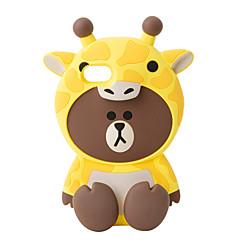 Для Чехлы панели Защита от удара Задняя крышка Кейс для 3D в мультяшном стиле Мягкий Силикон для AppleiPhone 7 Plus iPhone 7 iPhone 6s