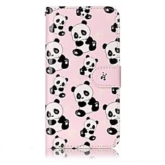 tanie Etui / Pokrowce do LG-Do lg g6 pokrowiec na pokrycie panda deseń lśniąca ulga pu materialna karta stent portfel skrzynka na telefon