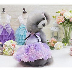 Σκύλος Φορέματα Ρούχα για σκύλους Χαριτωμένο Καθημερινά Μοντέρνα Πριγκίπισσα Γκρίζο Βυσσινί Ροζ