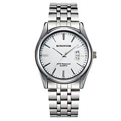 preiswerte Damenuhren-KINGNUOS Armbanduhr Sender Kalender, Cool Schwarz / Braun / Blau