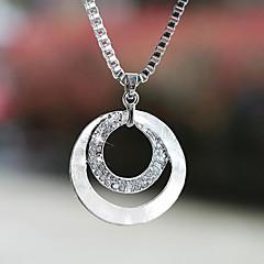 preiswerte Halsketten-Damen Synthetischer Diamant Anhängerketten - versilbert, Diamantimitate Grundlegend, Modisch Silber Modische Halsketten Schmuck 1pc Für Hochzeit, Party, Geschenk