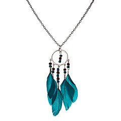 lureme®  Women's Pendant Necklaces Jewelry Wings / Feather Feather Unique Design Dangling Style Natural Statement Jewelry Carved Elegant Jewelry