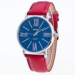 preiswerte Herrenuhren-Herrn Armbanduhr Quartz Armbanduhren für den Alltag Leder Band Analog Freizeit Modisch Schwarz / Weiß / Rot - Schwarz / Weiß Weiß / Rot Weiß / Braun