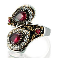 preiswerte Ringe-Damen Cluster Statement-Ring Ring - Glas, Aleación Erklärung, Personalisiert, Luxus 7 / 8 / 9 / 10 Rot / Grün / Blau Für Party Jahrestag Geburtstag