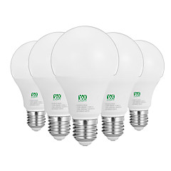 お買い得  LED 電球-YWXLIGHT® 5個 12W 1100-1200lm E26 / E27 LEDボール型電球 24 LEDビーズ SMD 2835 装飾用 温白色 ホワイト 100-240V