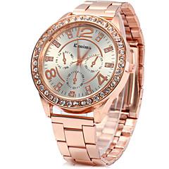 お買い得  レディース腕時計-女性用 クォーツ ダミー ダイアモンド 腕時計 ドレスウォッチ ファッションウォッチ 中国 ラインストーン 模造ダイヤモンド 合金 バンド ヴィンテージ シルバー ゴールド ローズゴールド