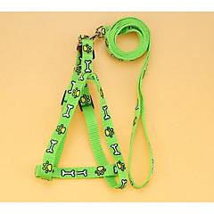お買い得  犬用首輪/リード/ハーネス-犬 ハーネス リード 安全用具 フラワー ナイロン ダークブルー レッド グリーン ブルー ピンク
