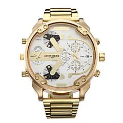 preiswerte Tolle Angebote auf Uhren-Herrn Sportuhr / Militäruhr / Armbanduhr Kalender / Duale Zeitzonen / Cool Edelstahl Band Luxus / Retro / Freizeit Gold