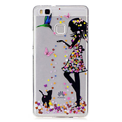 Для IMD Прозрачный С узором Кейс для Задняя крышка Кейс для Соблазнительная девушка Мягкий TPU для HuaweiHuawei P9 Lite Huawei P8 Lite