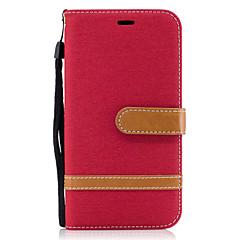 For Motorola Moto G4 Plus G4 Case Cover Denim Pattern Stitching Color Card Stent PU Material Phone Case Moto G5 Plus G5