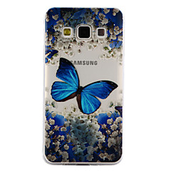 voordelige Galaxy A3 Hoesjes / covers-hoesje Voor Samsung Galaxy A5(2017) A3(2017) Transparant Reliëfopdruk Patroon Achterkantje Vlinder Zacht TPU voor A3 (2017) A5 (2017) A5