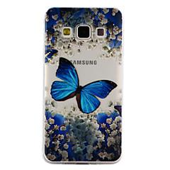 olcso Galaxy A5 tokok-Case Kompatibilitás Samsung Galaxy A5(2017) A3(2017) Átlátszó Minta Dombornyomott Fekete tok Pillangó Puha TPU mert A3 (2017) A5 (2017)