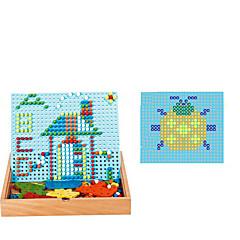 رخيصةأون -تركيب خشبي فسيفساء كيت ألعاب مربع خشب للأطفال قطع
