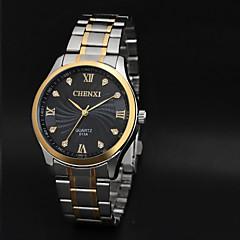 お買い得  大特価腕時計-CHENXI® 男性用 リストウォッチ カジュアルウォッチ ステンレス バンド チャーム ブラック / 2年 / Maxell626