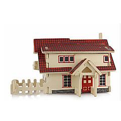 voordelige -3D-puzzels Legpuzzel Houten modellen Modelbouwsets Beroemd gebouw Architectuur 3D Simulatie DHZ Hout Klassiek Unisex Geschenk