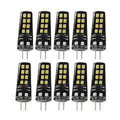 YWXLight® G4 3W 16LED 2835SMD 200-300 Lm Warm White Natural White Cold White Decorative LED Bi-pin Lights AC/DC 10-30V 10 pcs