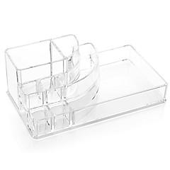 billiga kosmetiska lådor-Akryl klar kosmetika makeup lagring stå borste potten arrangör för läppstift nagellack